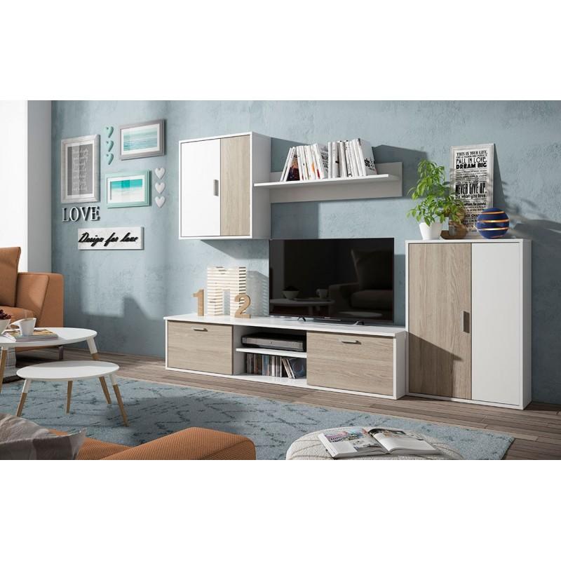 8602 Apilable salón diseño moderno económico. Acabado combinado colores blanco roto y sade.