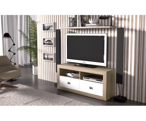 Mueble Tv 120cm moderno y actual económico. Estante pared no incluido.
