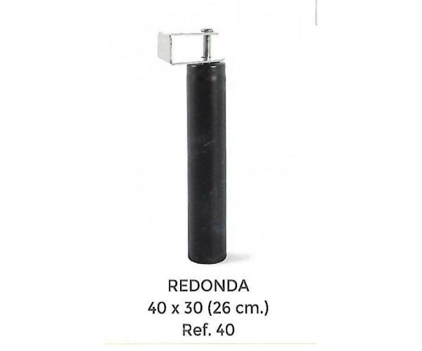 Juego de patas redondas altura 26cm con pletina