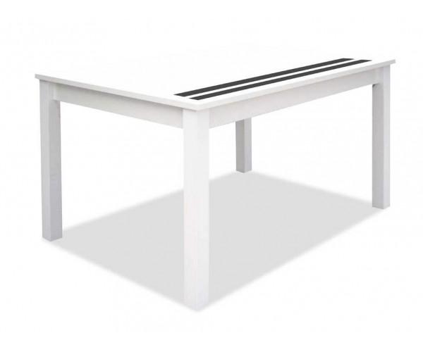Mesa extensible barata blanco y negro 140 cm.