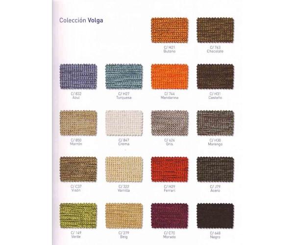 Carta de colores para tapizados en polipiel.