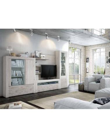SFGZMNT15 Apilable salón diseño moderno 320 cm. Acabado combinado Ártico y Vintage.