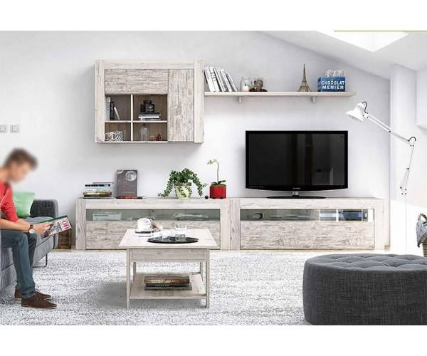SFGZMNT12 Apilable salón diseño moderno 280 cm. Acabado Vintage y Ártico.