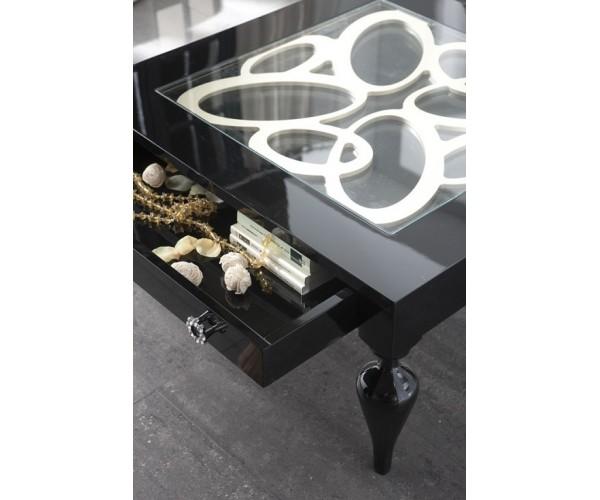 Mesa de centro cuadrada 90x90cm Luxe