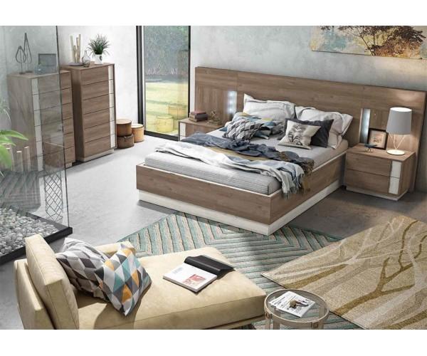 Dormitorio matrimonio estilo nórdico económico