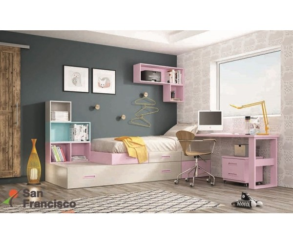 Dormitorio juvenil a medida económico. Nuevos diseños, texturas y colores.