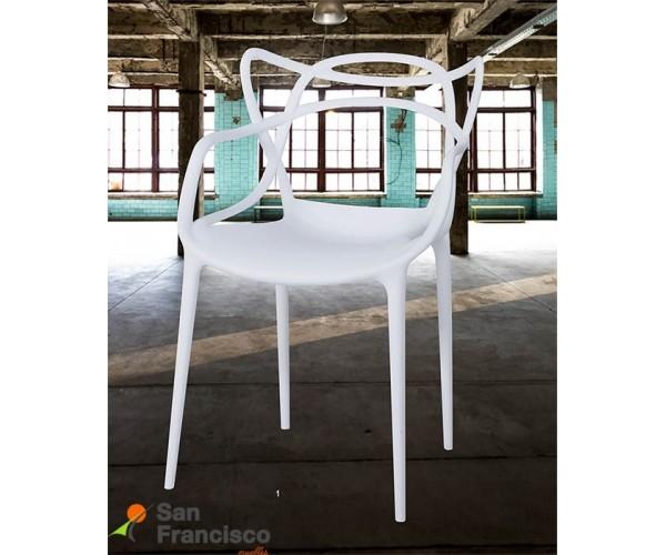 Original silla de diseño moderno económica. Fabricada en polipropileno en varios colores a elegir. Apilable,. Ideal para interio