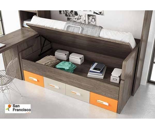 Dormitorio Juvenil con Puente
