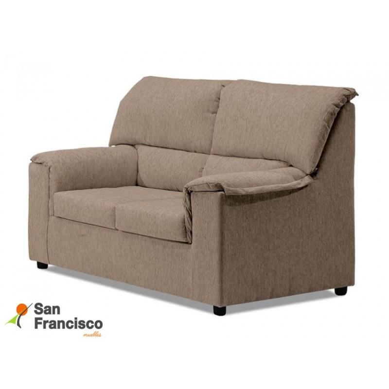 Sofá desenfundable barato 2 plazas tapizado Beige 125cm