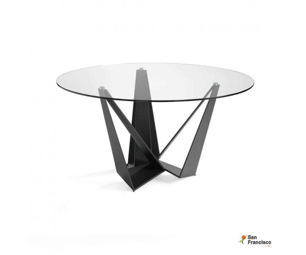 Mesa redonda de cristal de 150cm