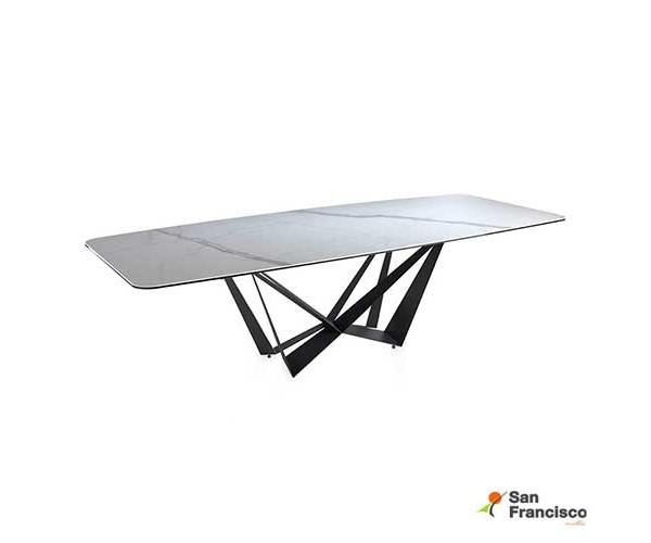 Mesa de comedor de 260 cm con tapa de Mármol