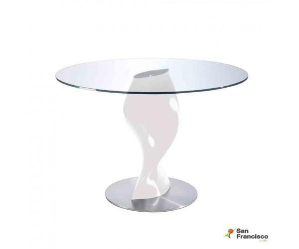 Mesa de cristal redondo 120cm