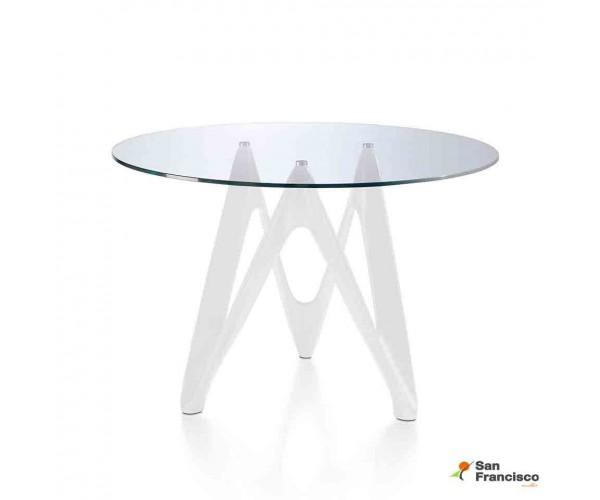 Mesa de comedor 120 cm redonda de Cristal