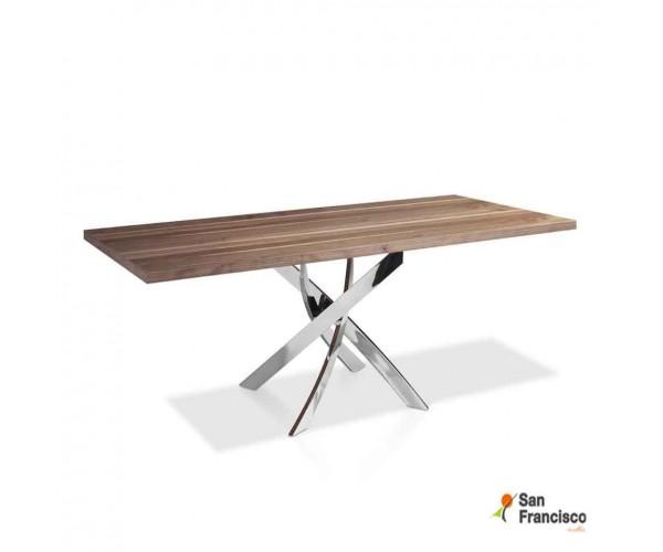 Mesa de comedor 140 x 95 cm Chapa de Nogal