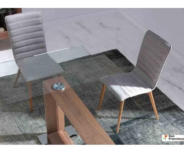 Mesa de comedor de diseño fija de 2 metros