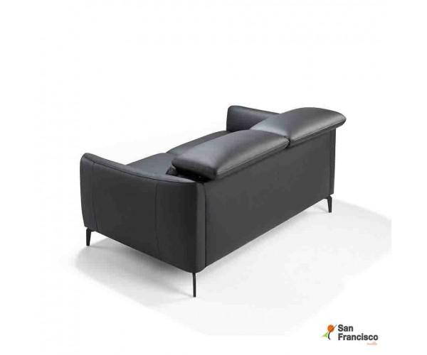 Sofá 2 plazas 157 tapizado en piel Negra