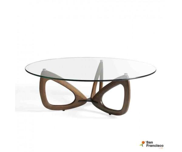 Mesa de centro redonda de 120cm de diseño
