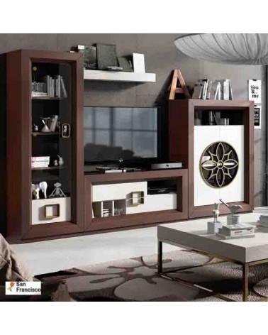Mueble de Salón de 297cm Chapado en Roble