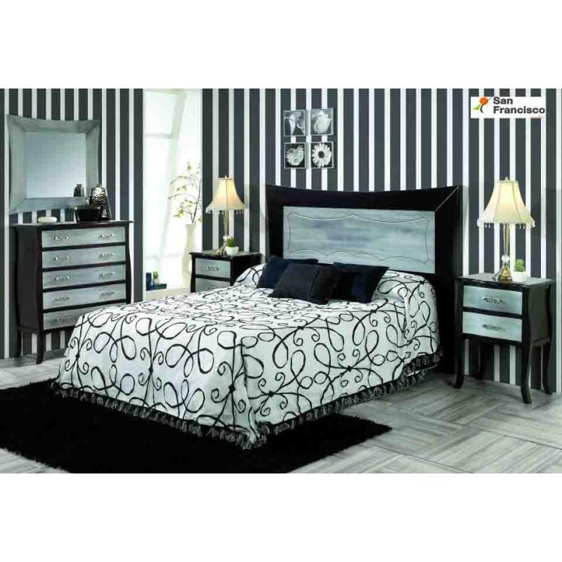 Dormitorio Clásico Granada Wengue y Plata