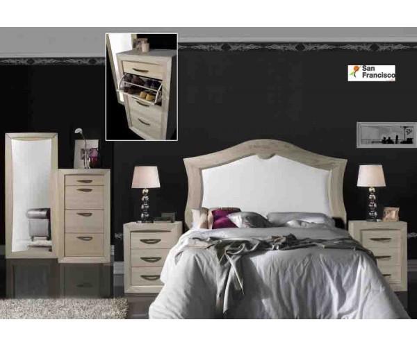 Dormitorio matrimonio madera maciza