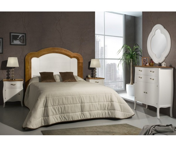 Dormitorio de matrimonio clásico Blanco y Cerezo