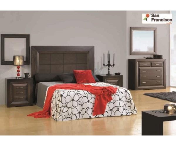 Dormitorio de matrimonio Rústico color wengue