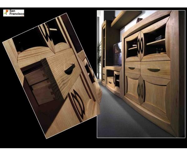 Mueble de Salón de madera maciza de 301cm