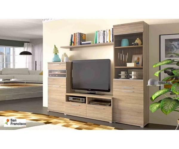 Mueble salón todo color cambrian de 240 de ancho ,mueble de linea economica