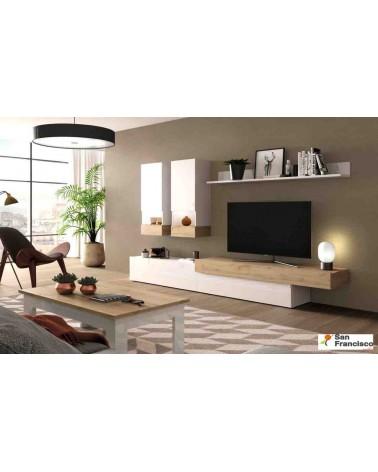 Mueble de salón Moderno 280cm Lacado Blanco