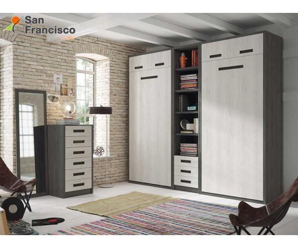 Cama abatible horizontal 90X190cm con maletero. Alta calidad. Económina. Perfecta para espacios reducidos.