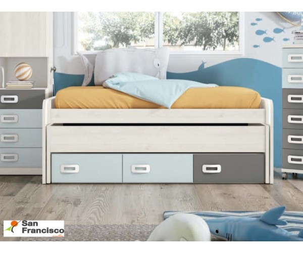 Cama compacta Juvenil 2 camas de 90x190cm