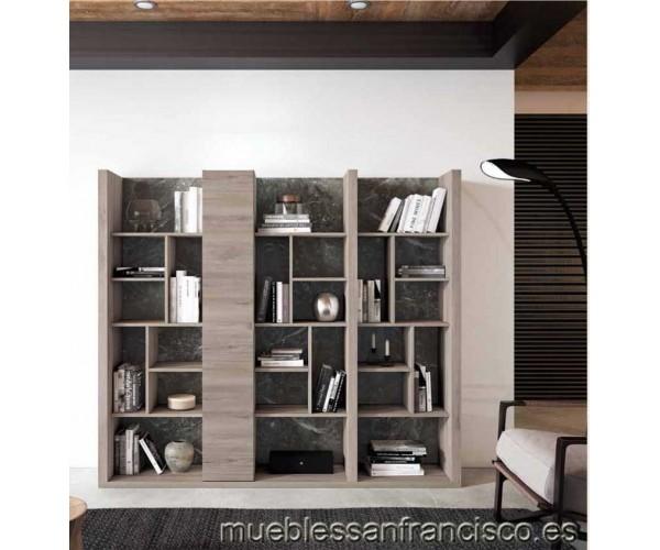 Estantería biblioteca económica con separadores y 1 puerta. Alta calidad. Elegante y original. Buen precio