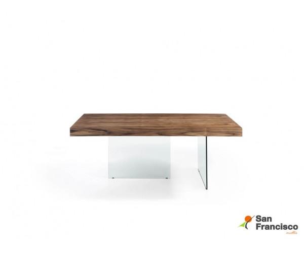 Mesa de comedor de Roble y Cristal de 200cm