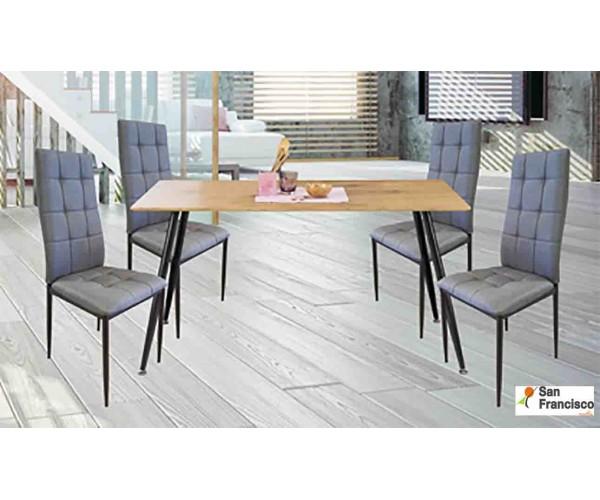 Conjunto Mesa de comedor + 4 sillas