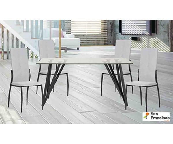 Mesa de comedor 160x90cm + 4 sillas