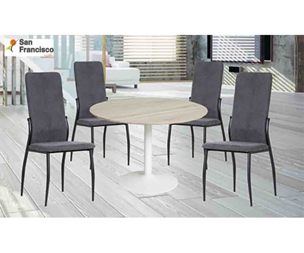 Mesa Redonda 110cm + 4 sillas