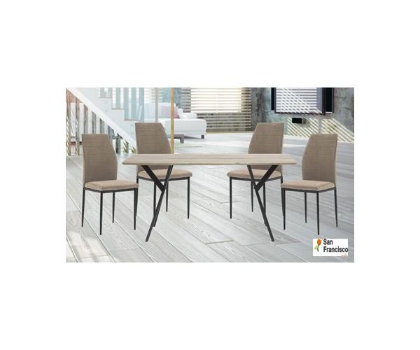 Conjunto de Mesa + 4 sillas 160x90cm