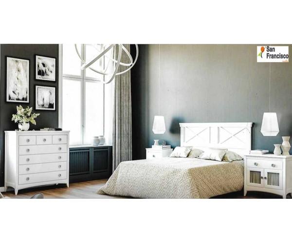 Cómoda 112,5cm Lacada Blanca Colonial