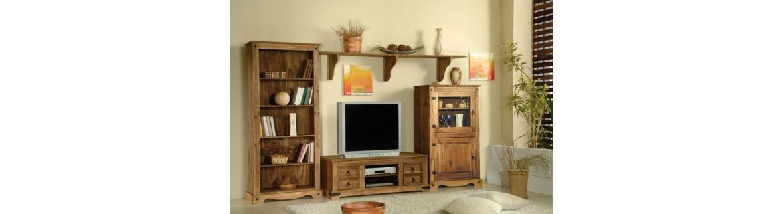 Muebles rústicos baratos para salón y comedor
